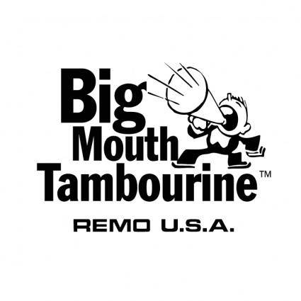 free vector Big mouth tambourine