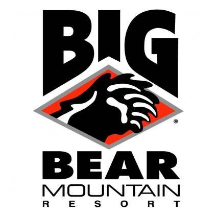 free vector Big bear mountain