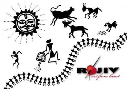 free vector Indian village art