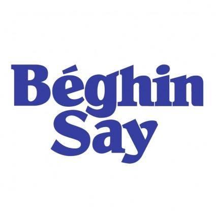 Beghin say