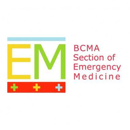 free vector Bcma section of emergency medicine
