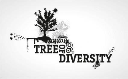 free vector Tree of Diversity