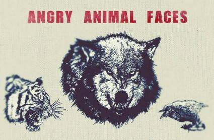 free vector Angry Animal Face Vector