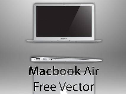 Macbook air free vector