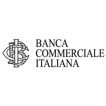 free vector Banca commerciale italiana