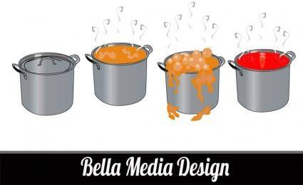 free vector Cooking Pots
