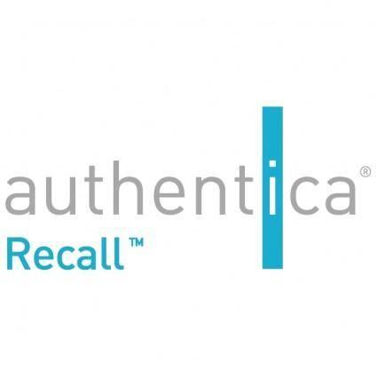 free vector Authentica recall