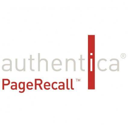 Authentica pagerecall