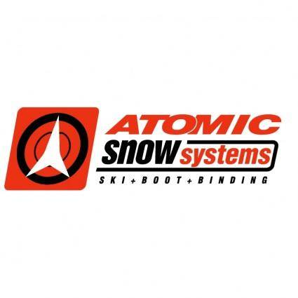 free vector Atomic snow systems