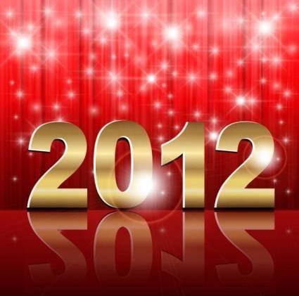 2012 creative font 02 vector