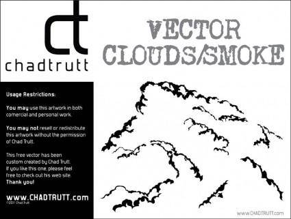 free vector Vector Clouds - Smoke