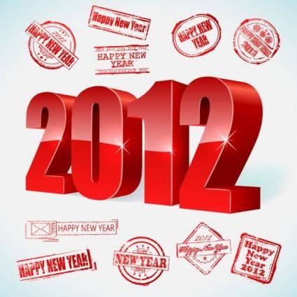 2012 creativity font 01 vector