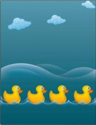 free vector Water ducks