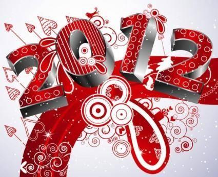 2012 creative font 05 vector