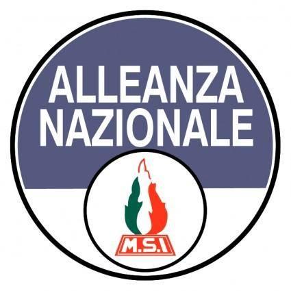 free vector Alleanza nazionale