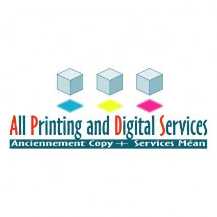 free vector All printing and digital services