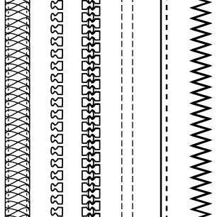 free vector Free Fashion Design Brushes: Zippers & Stitching