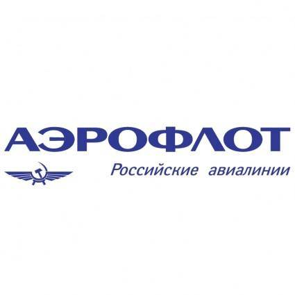 free vector Aeroflot russian airlines