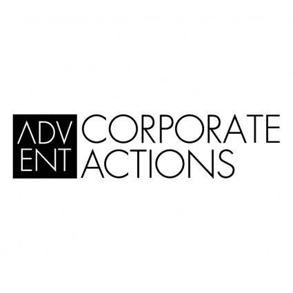 free vector Advent corporate actions