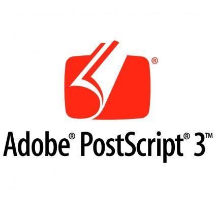 free vector Adobe postscript 3 0