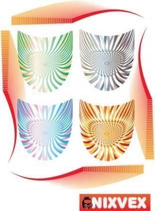 free vector NixVex Op Art Shields s