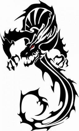 free vector Black Vector Dragon