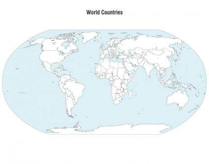 free vector World Countries Map Vector