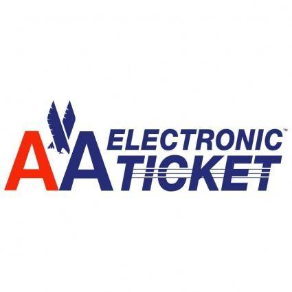 free vector Aa electronic ticket