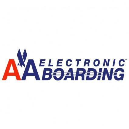 free vector Aa electronic boarding
