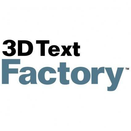 free vector 3d text factory