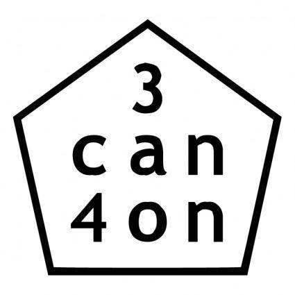 free vector 3 can 4 on