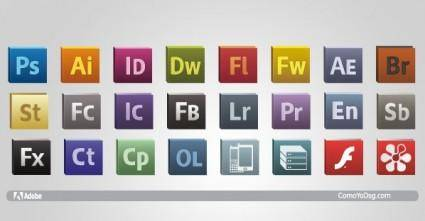free vector Adobe CS5 Logo Icons