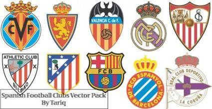 Spanish football clubs logos vector