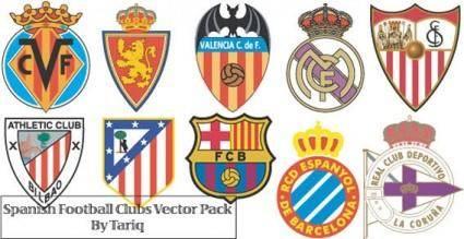 free vector Spanish football clubs logos vector