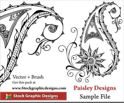 Vector Paisley Designs 8890