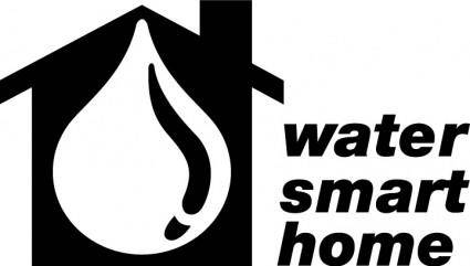 free vector Water smart home logo