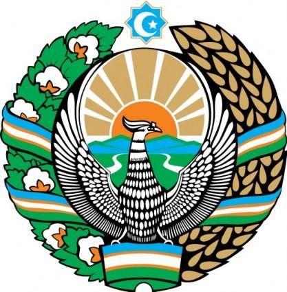 free vector Uzbekistan gerb
