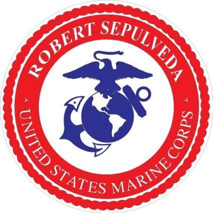 free vector US marine logo