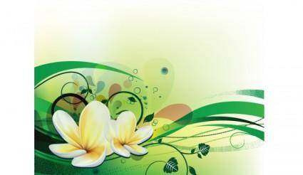 free vector Vector illustration with plumeria