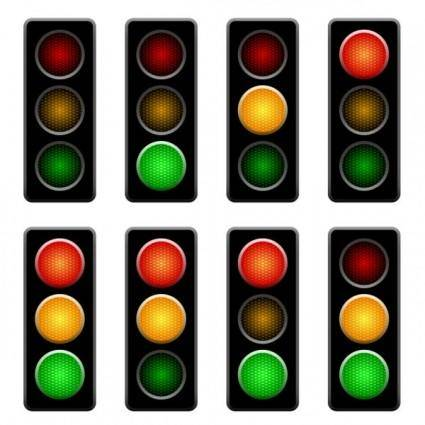 free vector Traffic lights 01 vector