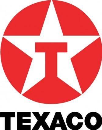 free vector Texaco logo2