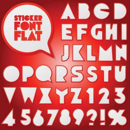 free vector Stickers vector 2 numbers and letters