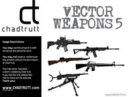 free vector Weapons 5