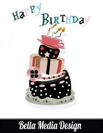 free vector Crazy birthday cake