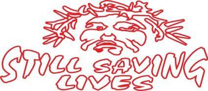 free vector Still saving lives logo