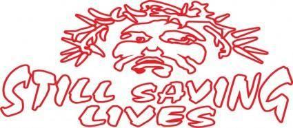 free vector Still saving lives logo