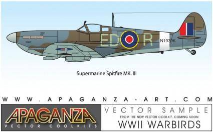 free vector Supermarine Spitfire MkIII vector