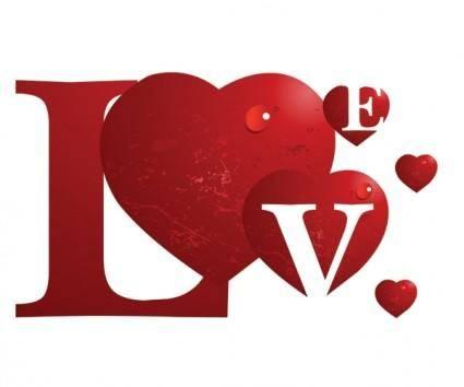 free vector Special love vector