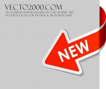 free vector New Red arrow