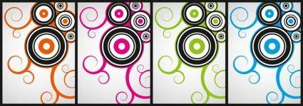 free vector Cool curly vectors, Free4all
